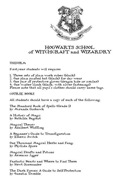 Hogwarts Letter Of Acceptance Template Hogwarts Acceptance Letter
