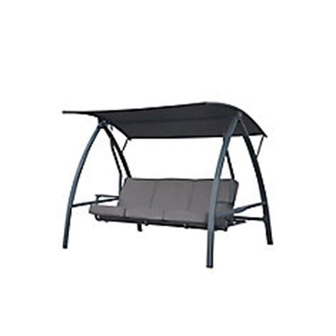 hton bay outdoor swing hton bay deluxe three person outdoor daybed swing the