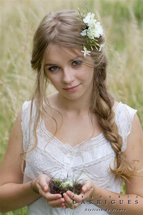 couronnes de fleurs cheveux couronne fleurs cheveux mariage