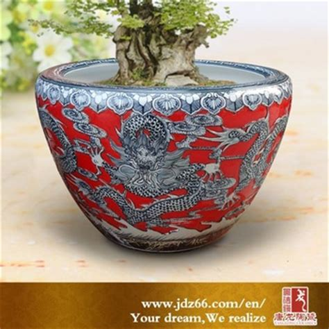 for sale chinese dragon pots for plants lausanne hand carved chinese dragon red glazed porcelain large tree