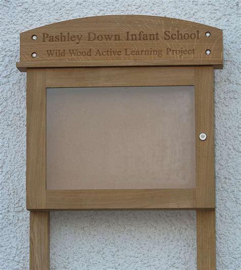 Handmade Notice Board - external noticeboards handmade in the uk