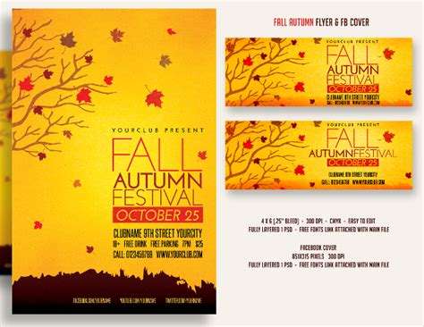 28 Festival Flyer Free Psd Ai Vector Eps Format Download Free Premium Templates Fall Flyer Template