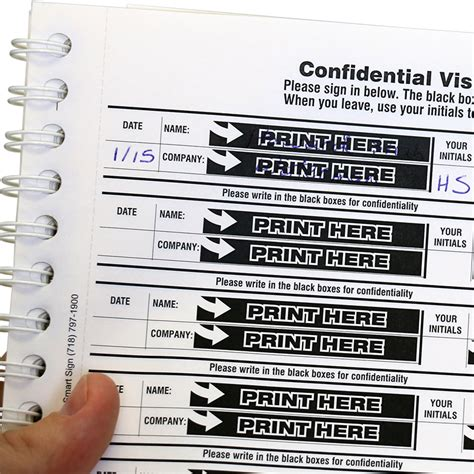 Sk Ii Age Protect Sheet confidential visitor sign in sheets book protect privacy