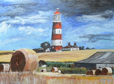 Norfolk Beach House - gordon powles happisburgh lighthouse in norfolk artists amp illustrators original art for