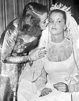 Bette Davis Spouse by Bette Davis And Daughter B D Hyman On Her Wedding Day