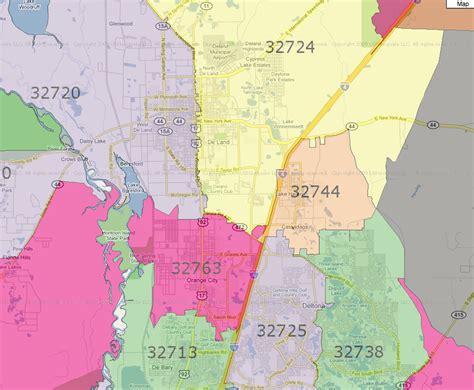 zip code map volusia county florida zip codes map browse info on florida zip codes