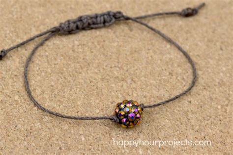 Sliding Knot Adjustable Bead Bracelet   Happy Hour Projects