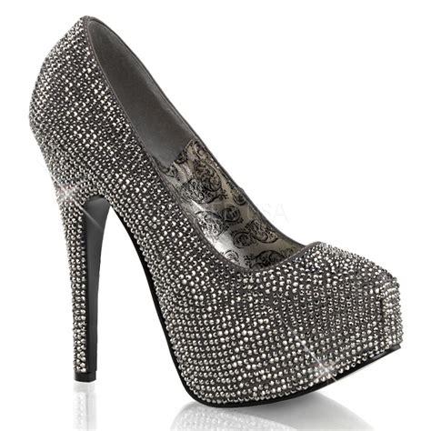 R A Shoes 06 5 3 4 quot rhinestone platform teeze 06r blowout sale