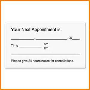 Appointment Card Template doc 448529 sle appointment card template