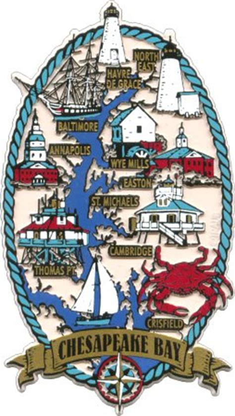 map of maryland lighthouses maryland souvenir magnets xl crw flags store in glen