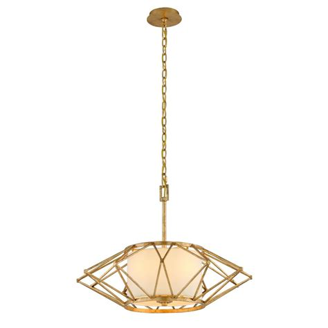 Leaf Pendant Light Troy Lighting Calliope 4 Light Rustic Gold Leaf Pendant F4864 The Home Depot