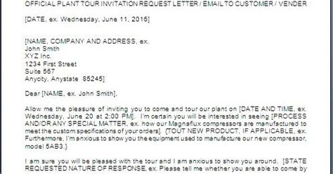 Request Letter Sle For Visit Plant Visit Request Letter