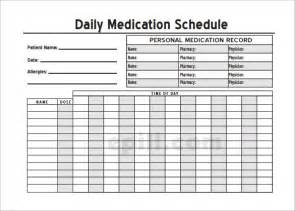 daily medication schedule template medication schedule template 12 free word excel pdf
