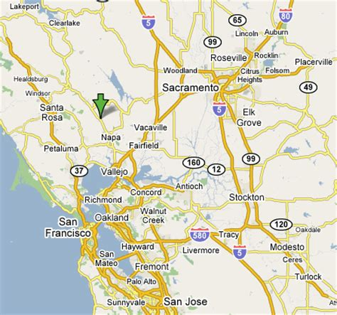 san jose to napa map maps directions yountville ca