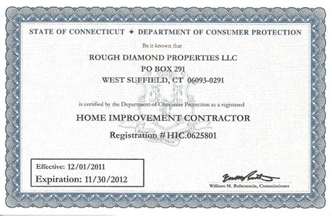 home improvement contractor license ct 28 images