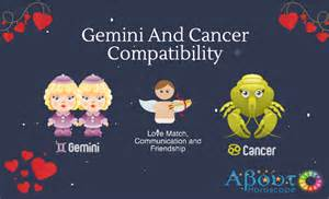 gemini and cancer compatibility love and friendship