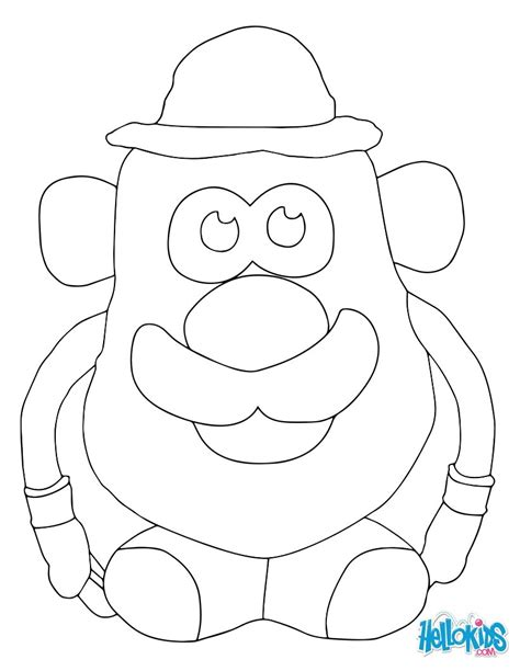 Mr Potato Head Coloring Pages Eson Me Potato Coloring Pages