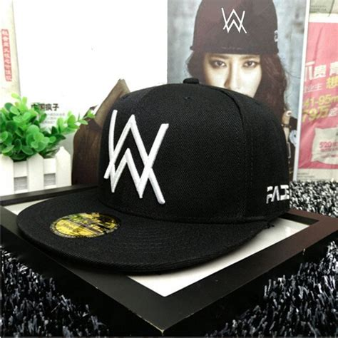 alan walker cap dj alan walker faded baseball cap flat brim embroidered