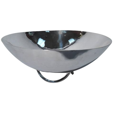 modern bowl cartier mid century modern sterling silver hand hammered