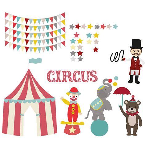 children s circus wall sticker set by oakdene designs