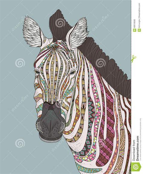 zebra fashion illustration zebra coloring page stock illustration image 69518585
