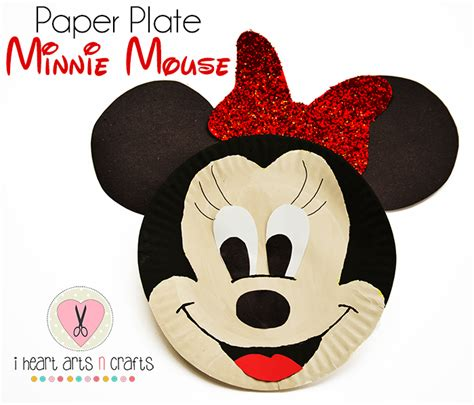 mickey mouse craft projects paper plate minnie mouse craft i arts n crafts
