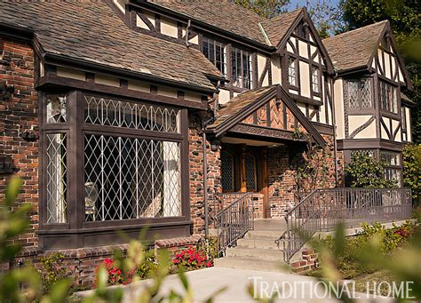 Tudor Style Windows Decorating Get The Look Tudor Style Traditional Home Home Tudor Traditional Homes And