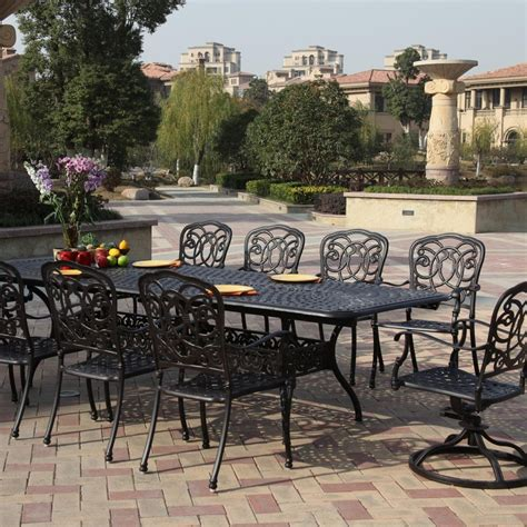 wrought iron patio set in sophisticated look the