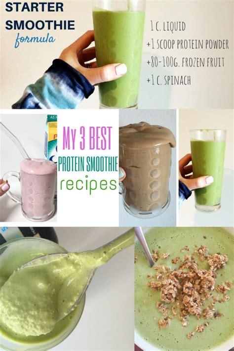 protein recipes protein smoothie recipes
