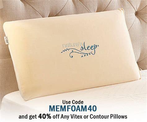 Memory Foam Pillows On Sale by The Vitex Memory Foam Pillow Is On Sale