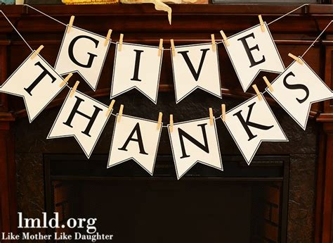 Printable Banner Give Thanks | give thanks banner diy like mother like daughter