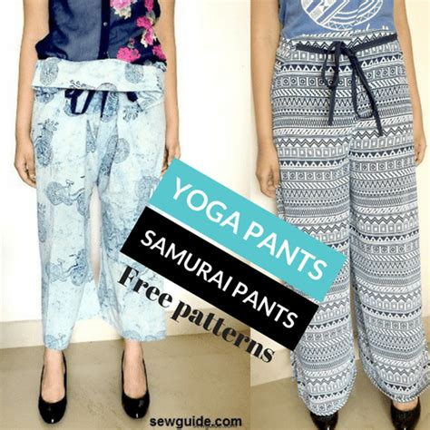 diy yoga pants pattern 2 ways to make wrap pants fisherman s pants yoga pants