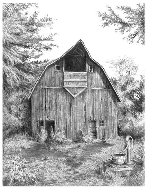 scheune zeichnung pencil drawings of barns pictures to pin on