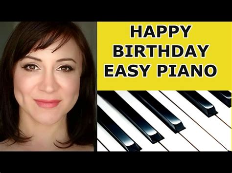 keyboard tutorial happy birthday happy birthday to you easy piano lesson tutorial doovi