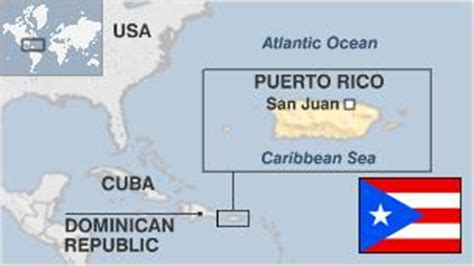 map of the united states and puerto rico puerto rico profile overview bbc news