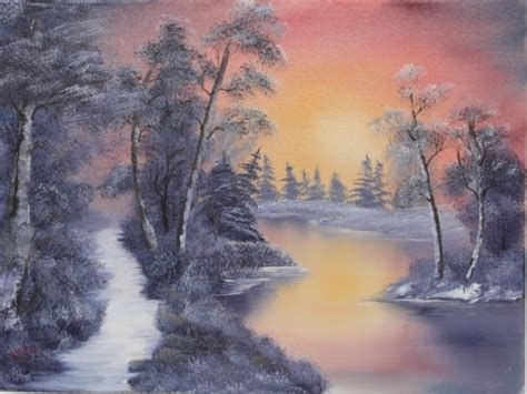 bob ross northern lights painting for sale landscape paintings landscape painting classes