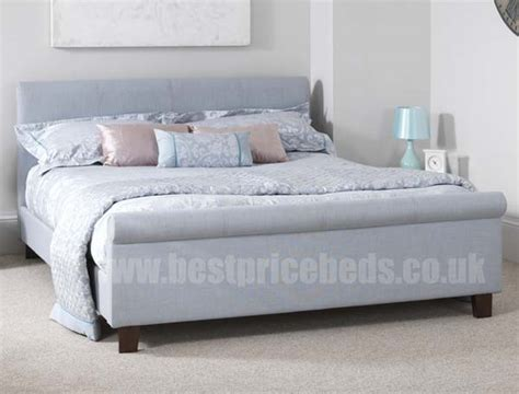 fabric sleigh bed serene hazel fabric sleigh bed frame buy online at