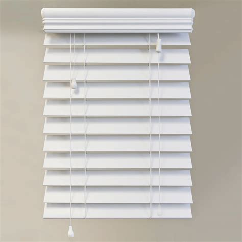home decorators collection premium faux wood blinds home decorators collection 60x72 white 2 5 inch premium