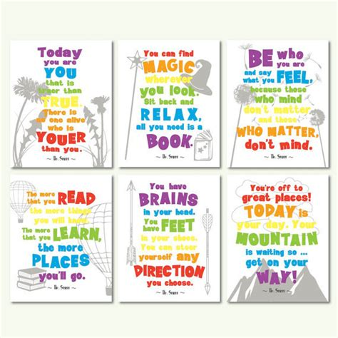kids bedroom quotes dr seuss quotes motivational quotes kids room by sunnyrainfactory inspiration to all