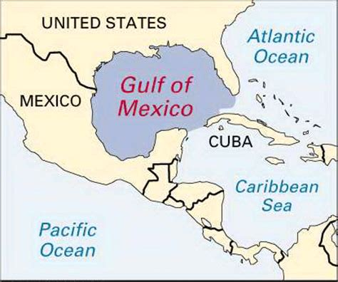 map us states gulf mexico mexico gulf of location encyclopedia children