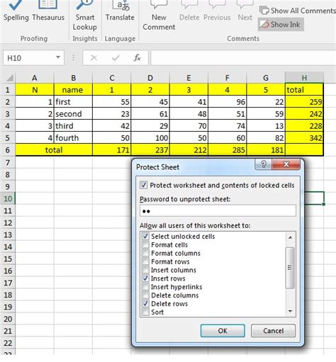 excel 2007 lock cell format how to insert or delete rows in individually locked cells