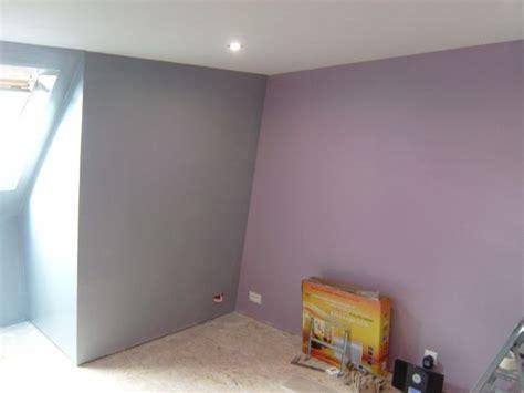 chambre lilas et gris peinture chambre violet gris