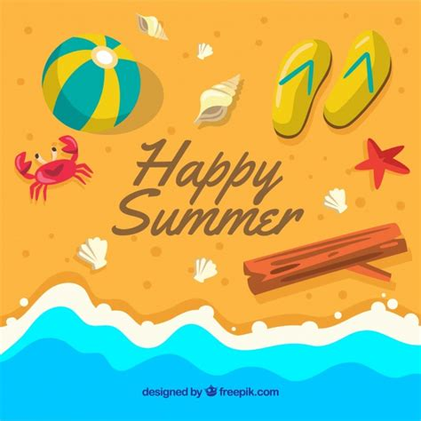 7 Reasons I Am Glad Summer Is Ending by Happy Summer Background With Objects On The Seashore
