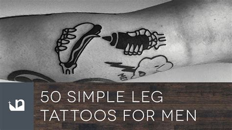 simple leg tattoos for men 50 simple leg tattoos for