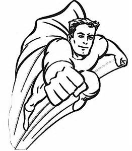 Cartoon Superhero Coloring Pages sketch template