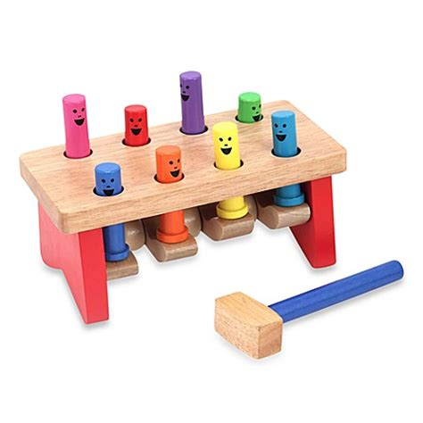 toddler bench buy melissa doug 174 deluxe pounding bench toddler toy from