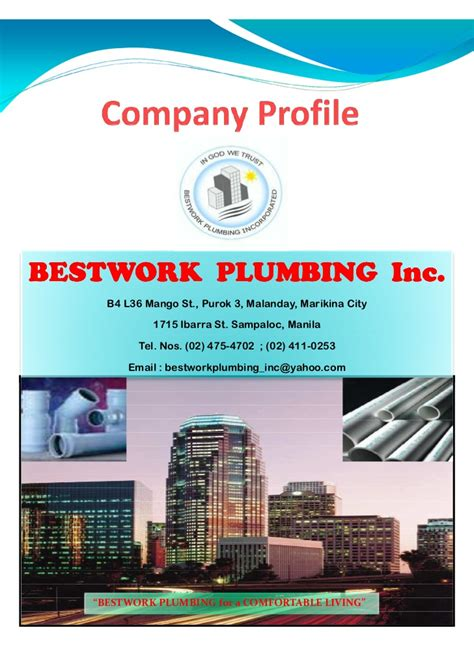 The Plumbing Company by Bestwork Company Profile