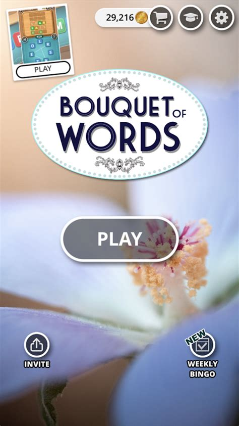 bouquet  words word game