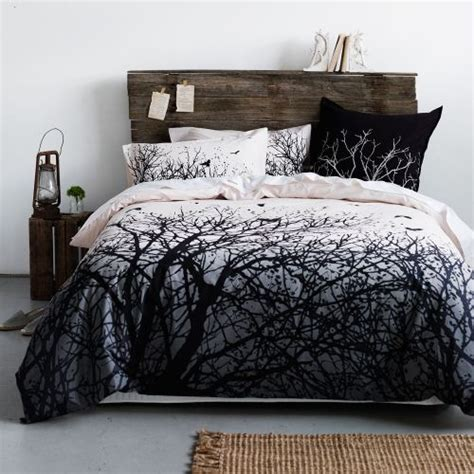 forest bed set winter tree quilt cover house pinterest bedhead old