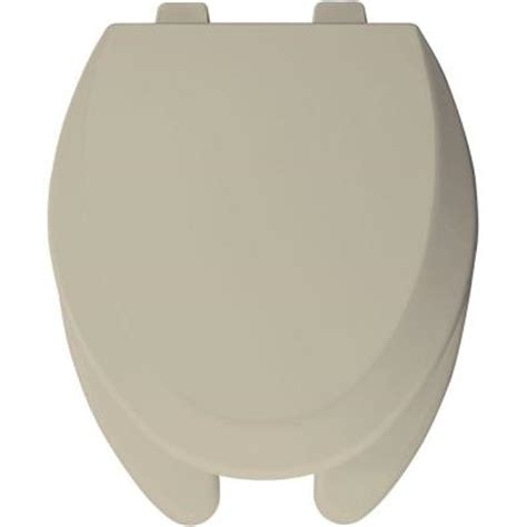 bemis elongated open front toilet seat in bone 1550pro 006